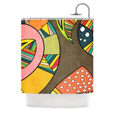 Cosmic Aztec Polyester Shower Curtain