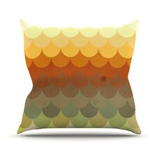 Half Circles Waves Throw Pillow