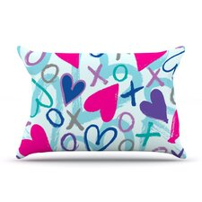 Hearts A Flutter Microfiber Fleece Pillow Case