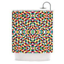 Retro Grade Polyester Shower Curtain