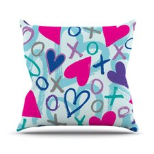 <strong>KESS InHouse</strong> Hearts A Flutter Throw Pillow