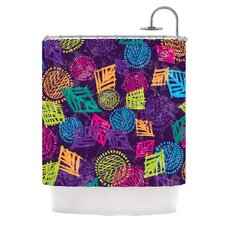 African Beat Polyester Shower Curtain