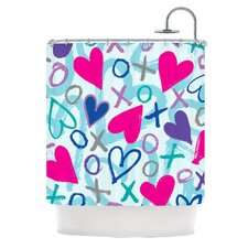 Hearts A Flutter Polyester Shower Curtain