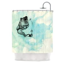 Hot Tub Hunter III Polyester Shower Curtain