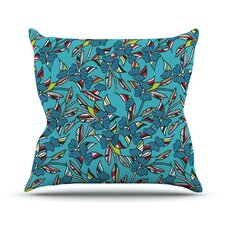 Paper Leaf Throw Pillow