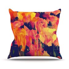 Geo Flower Throw Pillow
