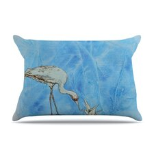 Crane Fleece Pillow Case