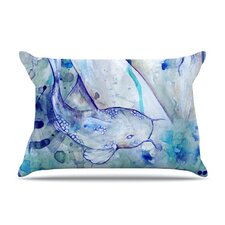Koi Playing Fleece Pillow Case