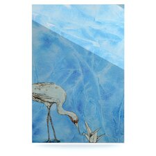 Crane by Kira Crees Graphic Art Plaque
