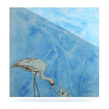 Crane by Kira Crees Painting Print Plaque