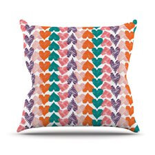 Hearts by Louise Machado Throw Pillow
