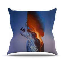 Volcano Girl by Lydia Martin Throw Pillow