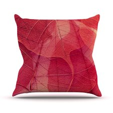 Delicate Leaves by Ingrid Beddoes Throw Pillow