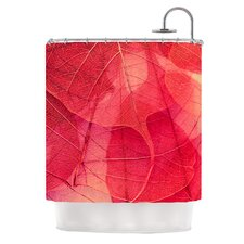 Delicate Leaves Polyester Shower Curtain