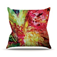 Passion Flowers I by Mary Bateman Throw Pillow