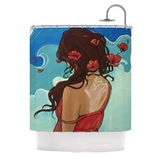 Sea Swept Polyester Shower Curtain