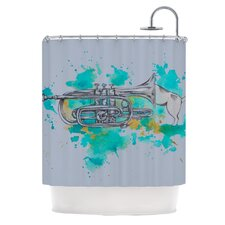 Hunting for Jazz Polyester Shower Curtain