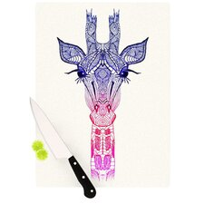 <strong>KESS InHouse</strong> Rainbow Giraffe Cutting Board