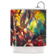 Growth Polyester Shower Curtain