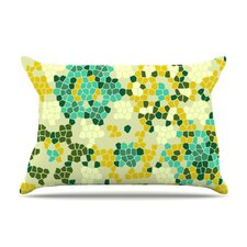 Flower Garden Mosaic Fleece Pillow Case