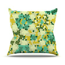 Flower Garden Mosaic Throw Pillow