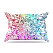 <strong>KESS InHouse</strong> Rainbow Dots Fleece Pillow Case