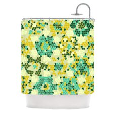 <strong>KESS InHouse</strong> Flower Garden Mosaic Polyester Shower Curtain