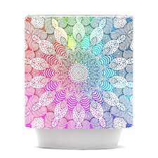 Rainbow Dots Polyester Shower Curtain