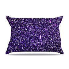 Purple Dots Fleece Pillow Case