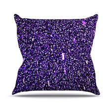 Purple Dots Throw Pillow