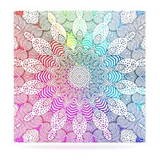 Rainbow Dots Floating Art Panel