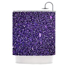 <strong>KESS InHouse</strong> Purple Dots Polyester Shower Curtain