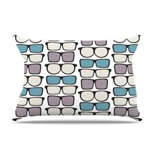Spectacles Geek Chic Fleece Pillow Case
