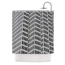 The Grid Polyester Shower Curtain