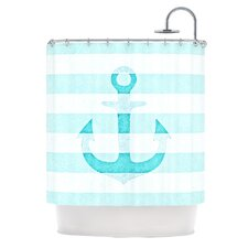 Stone Vintage Anchor Polyester Shower Curtain
