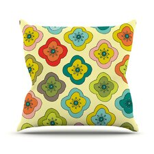 Forest Bloom Throw Pillow