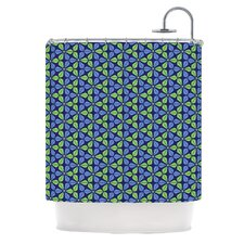 <strong>KESS InHouse</strong> Infinite Flowers Polyester Shower Curtain