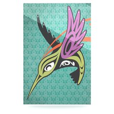 Hummingbird Friends Floating Art Panel