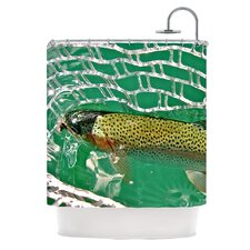 Catch Polyester Shower Curtain