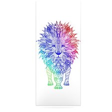 Rainbow Lion by Monika Strigel Graphic Art Plaque