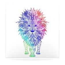 Rainbow Lion by Monika Strigel Painting Print Plaque