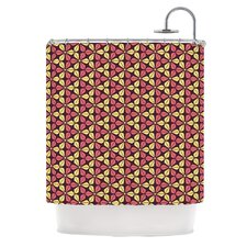 Infinite Flowers Polyester Shower Curtain