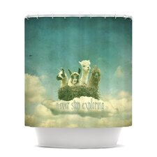 Never Stop Exploring Polyester Shower Curtain