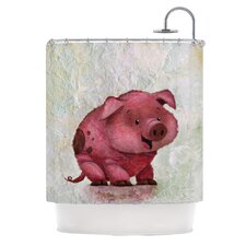 This Little Piggy Polyester Shower Curtain