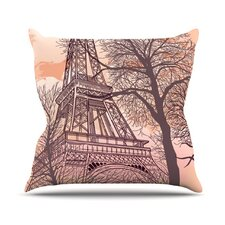 Eiffel Tower by Sam Posnick Throw Pillow