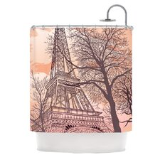 <strong>KESS InHouse</strong> Eiffel Tower Polyester Shower Curtain