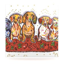 Maksim Murray Enzo Ruby & Willy by Rebecca Fischer Painting Print Plaque
