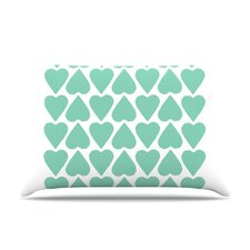 <strong>KESS InHouse</strong> Up and Down Hearts Fleece Pillow Case