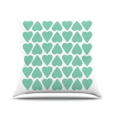 Up and Down Hearts Throw Pillow