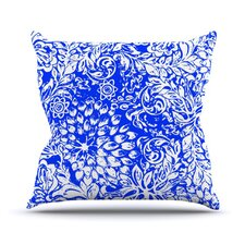 Bloom Blue for You by Vikki Salmela Throw Pillow
